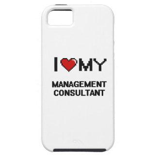 Amo a mi consultor en administración de empresas iPhone 5 cárcasa
