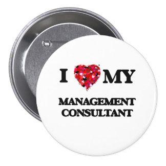 Amo a mi consultor en administración de empresas pin redondo 7 cm