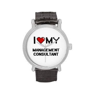 Amo a mi consultor en administración de empresas relojes de pulsera