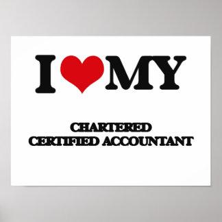 Amo a mi contable certificado cargado poster