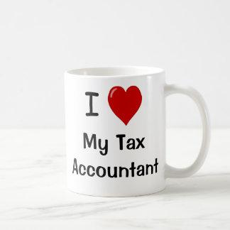 Amo a mi contable del impuesto me amo taza clásica