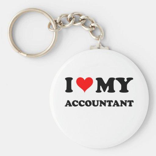 Amo a mi contable llavero redondo tipo pin