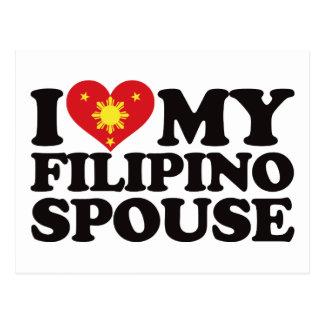 Amo a mi cónyuge filipino tarjetas postales