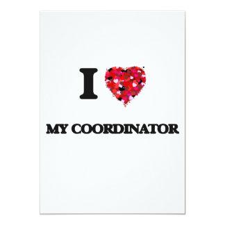 """Amo a mi coordinador invitación 5"""" x 7"""""""