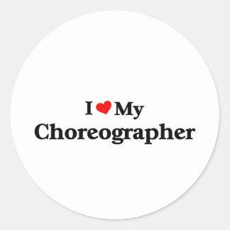 Amo a mi coreógrafo pegatina redonda