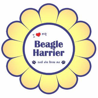 Amo a mi corredor de cross del beagle (el perro fe adorno fotoescultura