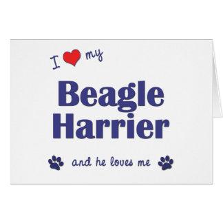 Amo a mi corredor de cross del beagle (el perro ma tarjeta de felicitación