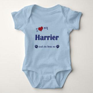 Amo a mi corredor de cross (el perro femenino) body para bebé