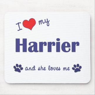 Amo a mi corredor de cross (el perro femenino) tapete de raton