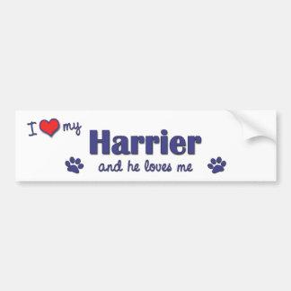 Amo a mi corredor de cross (el perro masculino) pegatina para auto