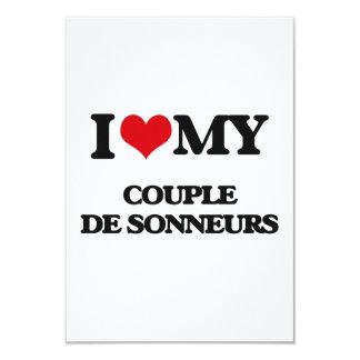 Amo a mi COUPLE DE SONNEURS Invitaciones Personalizada