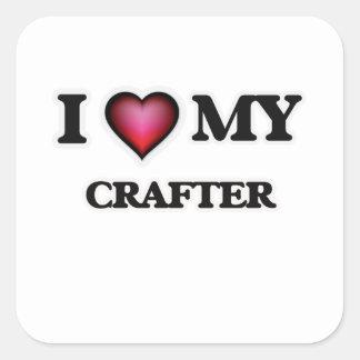 Amo a mi Crafter Pegatina Cuadrada