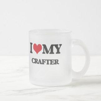 Amo a mi Crafter Taza Cristal Mate