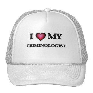 Amo a mi criminalista gorros