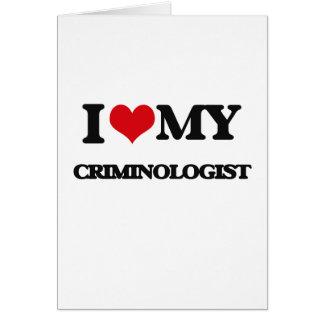 Amo a mi criminalista felicitación