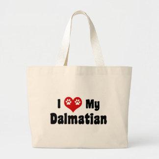 Amo a mi Dalmatian Bolsa Lienzo