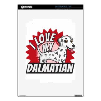 Amo a mi Dalmatian iPad 2 Calcomanía