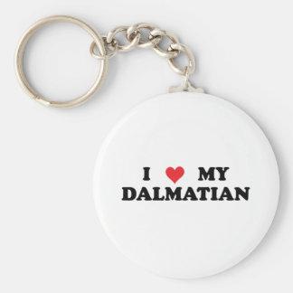 Amo a mi Dalmatian Llavero Redondo Tipo Pin