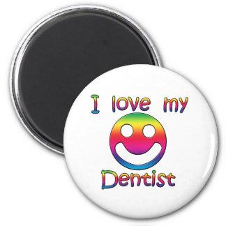 Amo a mi dentista imán redondo 5 cm