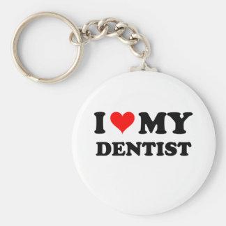 Amo a mi dentista llavero redondo tipo pin