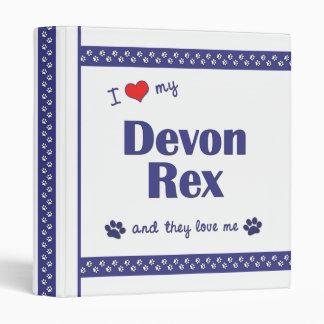 "Amo a mi Devon Rex (los gatos múltiples) Carpeta 1"""
