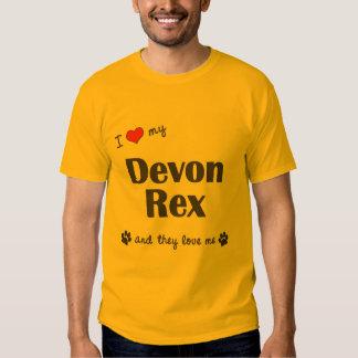 Amo a mi Devon Rex (los gatos múltiples) Poleras