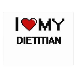 Amo a mi dietético postal