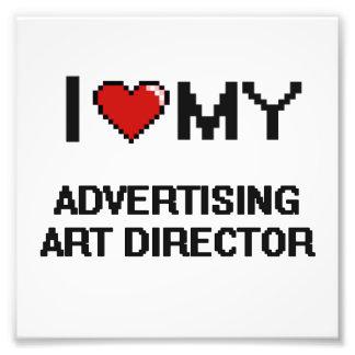 Amo a mi director de arte de publicidad cojinete