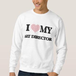 Amo a mi director de arte (el corazón hecho de sudaderas encapuchadas