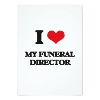"""Amo a mi director de funeraria invitación 5"""" x 7"""""""