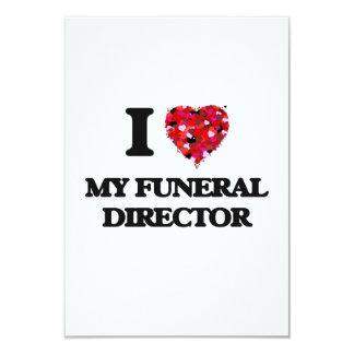 """Amo a mi director de funeraria invitación 3.5"""" x 5"""""""