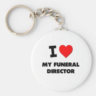 Amo a mi director de funeraria llavero redondo tipo pin