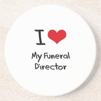 Amo a mi director de funeraria posavasos cerveza