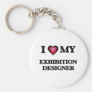 Amo a mi diseñador de la exposición llavero redondo tipo pin