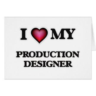 Amo a mi diseñador de la producción tarjeta de felicitación