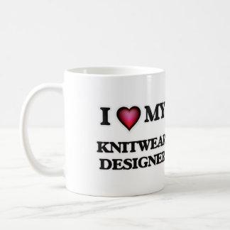 Amo a mi diseñador de los géneros de punto taza de café