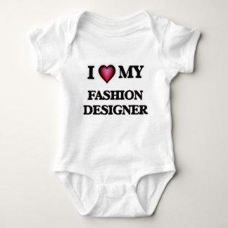 Amo a mi diseñador de moda mameluco de bebé