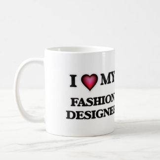 Amo a mi diseñador de moda taza clásica