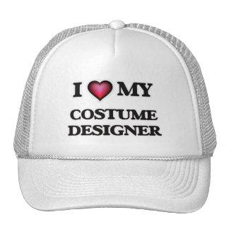 Amo a mi diseñador de vestuario gorros bordados