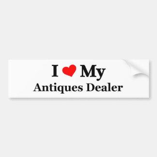 Amo a mi distribuidor autorizado de antigüedades pegatina para auto