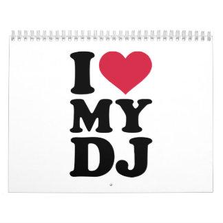 Amo a mi DJ Calendarios De Pared
