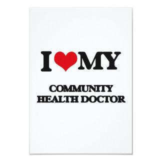 Amo a mi doctor de la salud de la comunidad invitación 8,9 x 12,7 cm