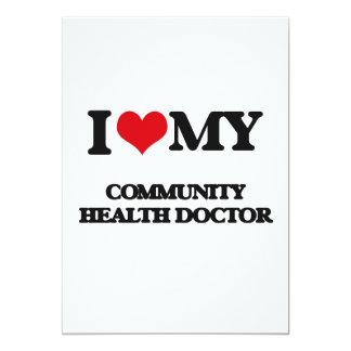 Amo a mi doctor de la salud de la comunidad invitación 12,7 x 17,8 cm