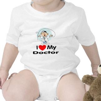 Amo a mi doctor trajes de bebé