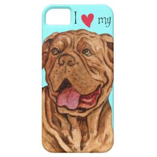 Amo a mi Dogue de Bordeaux iPhone 5 Cárcasa