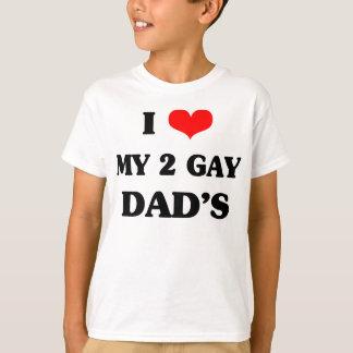 Amo a mi dos papás del gay playera