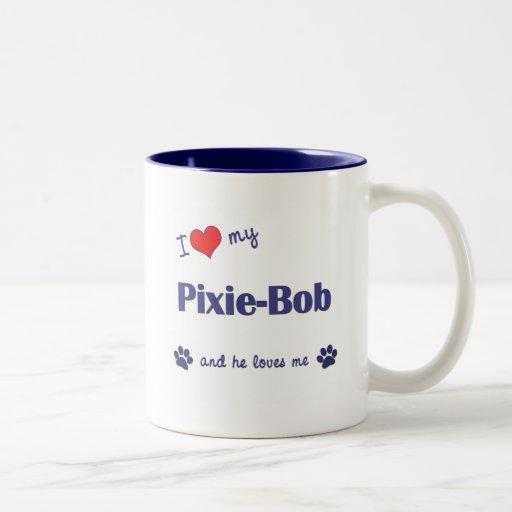 Amo a mi Duendecillo-Bob (el gato masculino) Tazas De Café