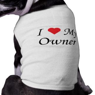 Amo a mi dueño playera sin mangas para perro