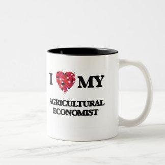 Amo a mi economista agrícola taza dos tonos