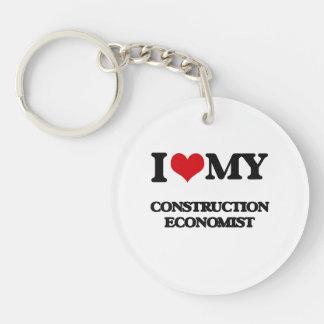 Amo a mi economista de la construcción llavero